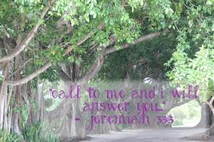 Mom's Priority verse of the week Jeremiah 33:3