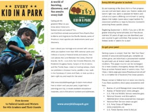 Every Kid in a Park ~ Free Admission for Fourth Graders