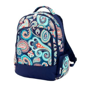 Emerson Paisley backpack navy and teal back to school