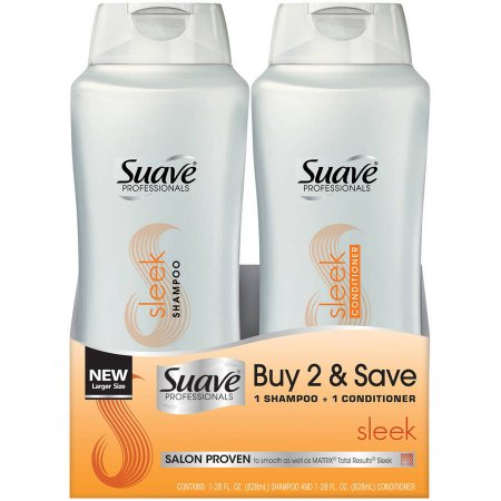 2-pack suave shampoo and conditioner from Walmart