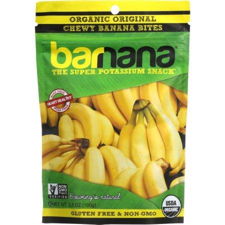 Organic Original Chewy Banana Bites - 3.5 oz (100 Grams) by Barnana