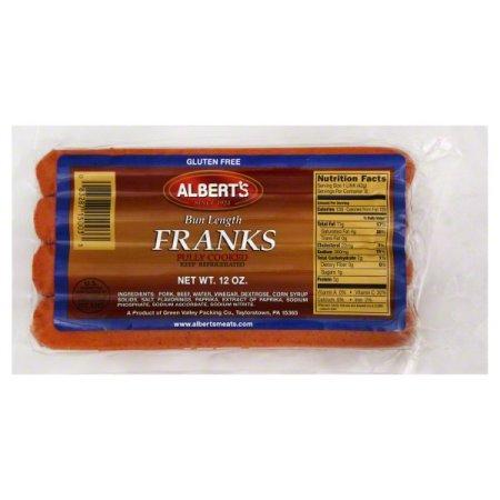 Albert's Gluten-Free Bun Length Franks