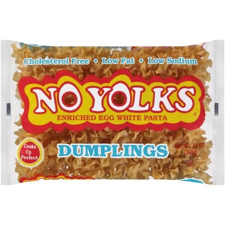 No Yolks ® Cholesterol Free Egg White Pasta Dumplings 12 oz. Bag