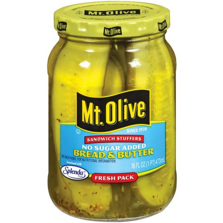 Mt. Olive Bread And Butter No Sugar Added Pickles Sandwich Stuffers