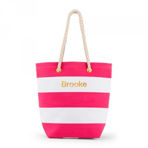 teacher gifts striped tote
