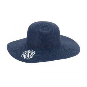 teacher gift monogrammed sun hat