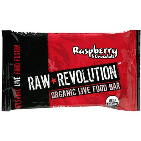 Raw Revolution Organic Live Raspberry & Chocolate Food Bars