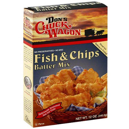 Don's Chuck Wagon Fish & Chips Batter Mix, 12 oz, (Pack of ...