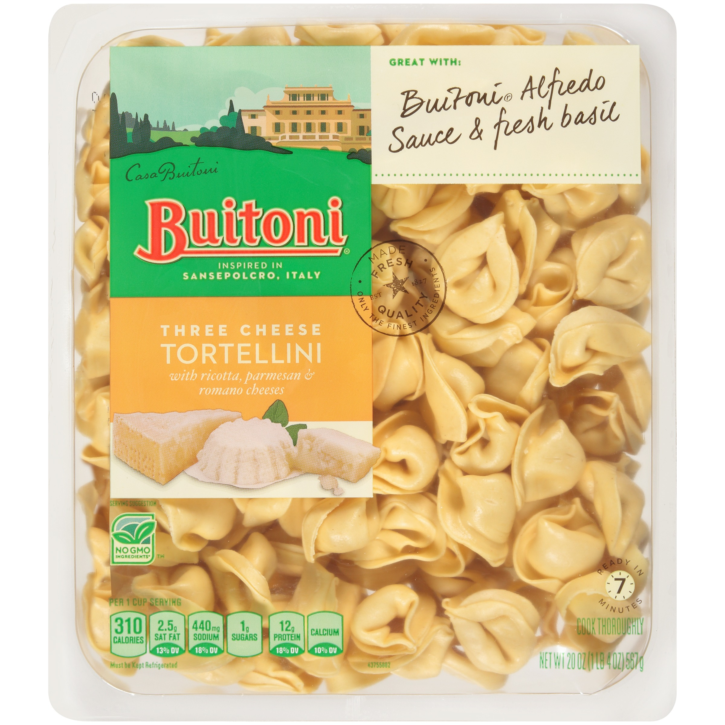 BUITONI Refrigerated Three Cheese Tortellini 20 oz. Tray