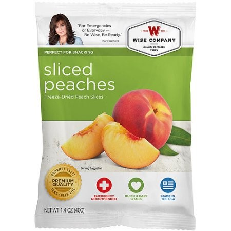 Wise company freeze dried sliced fruit peaches 1 4 oz moms priority - Dried fruit business ...