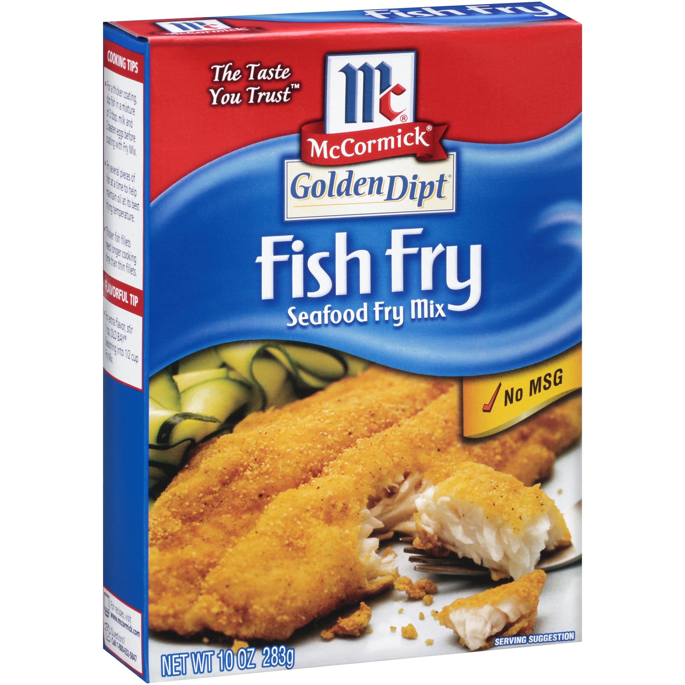 Mccormick golden dipt fish fry mix 10 oz box moms for Fish fry mix