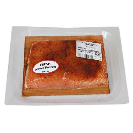 Fresh Altantic Salmon with BBQ Rub on Cedar Plank