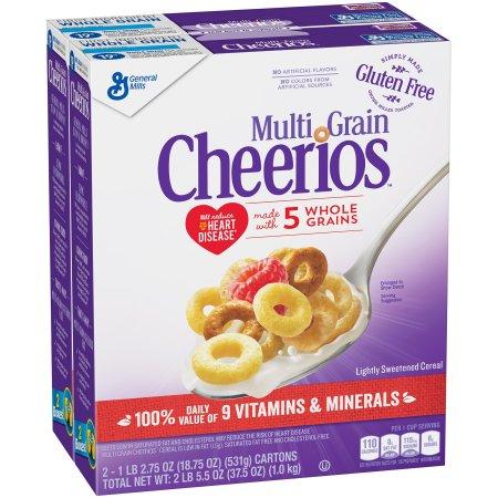 Multi Grain Cheerios Cereal 2-18.75 oz. Boxes