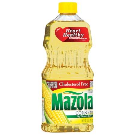 Mazola 100% Pure Corn Oil 48 Oz Plastic Bottle