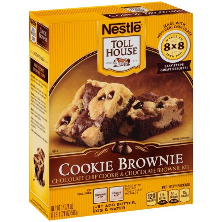 Nestle TOLL HOUSE Cookie Brownie Kit 17.875 oz. Box