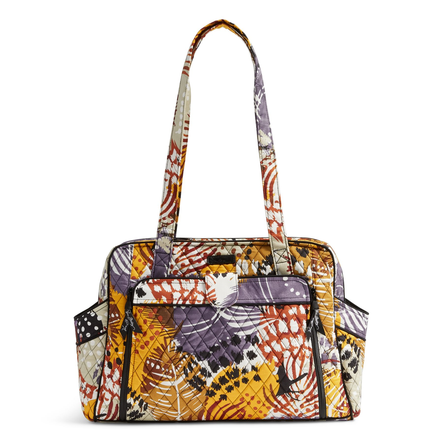 Vera Bradley Stroll Around Baby Bag In Painted Feathers