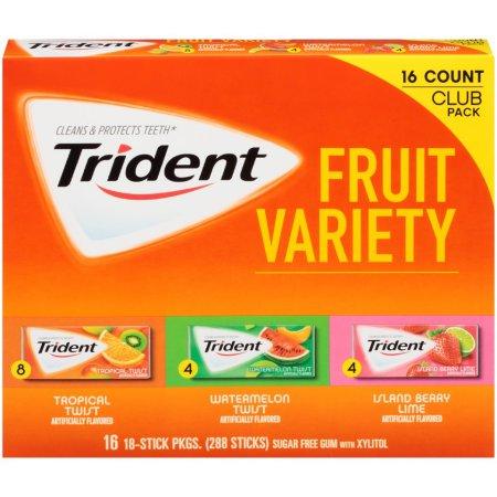 Trident Sugar-Free Fruit Gum Variety Pack
