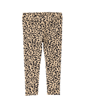 Our leopard ponte pant keeps her comfortable and stylish. Perfect for the season's sweetest celebrations. 65.2% Cotton/31.2% Polyester/3.6% Spandex Ponte Di Roma. Elasticized Waist. Machine Washable; Imported. Autumn Sunset.