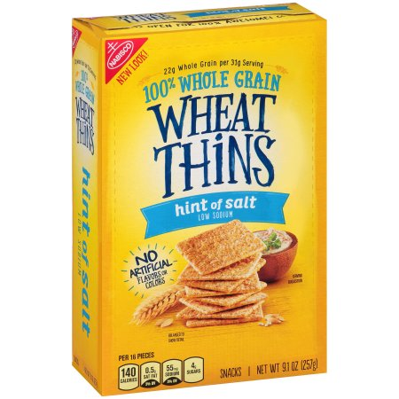 Nabisco Wheat Thins Hint of Salt Crackers, 9.1 oz ~ Moms ...