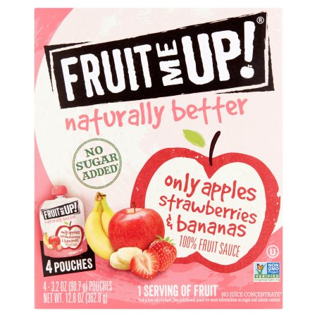 Fruit Me Up Only Apples Strawberries & Bananas 100% Fruit Sauce