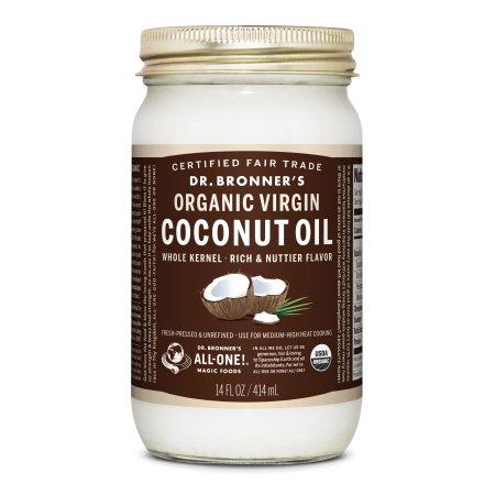 Dr. Bronner's Fair Trade; Organic Whole Kernel Virgin Coconut Oil