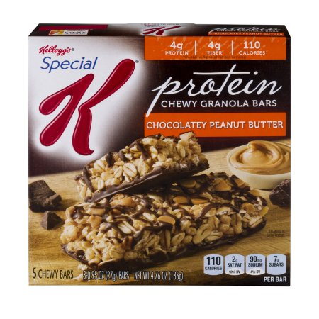 Kellogg's Special K Protein Chewy Granola Bars Chocolatey Peanut Butter - 5 CT