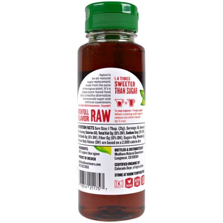 Madhava Organic Fair Trade Agave Nectar 11.75 oz.