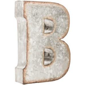 galvanized letter B Hobby Lobby