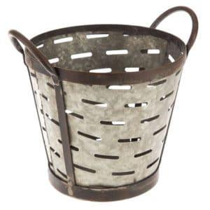 Metal Olive Bucket Hobby Lobby
