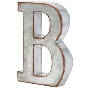 galvanized letter