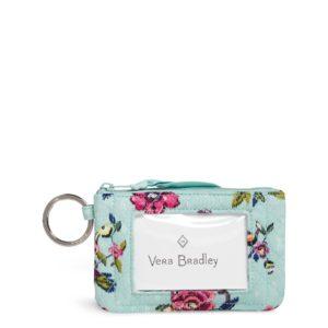 Vera Bradley Iconic Zip ID Case in Water BouquetIds/Keychains