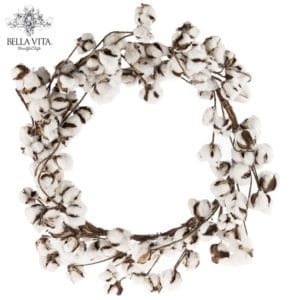 farmhouse wreath cotton