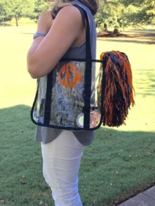 etsy clear stadium bag with monogram
