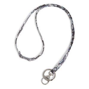 Vera Bradley Iconic Breakaway Lanyard in Charcoal MedallionIds/Keychains