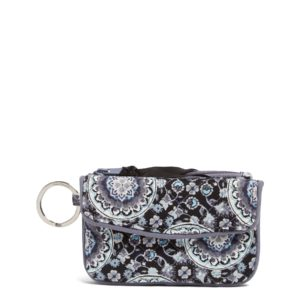 Vera Bradley Iconic Jen Zip ID in Charcoal MedallionIds/Keychains