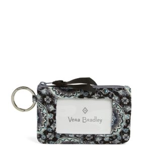 Vera Bradley Iconic Zip ID Case in Charcoal MedallionIds/Keychains