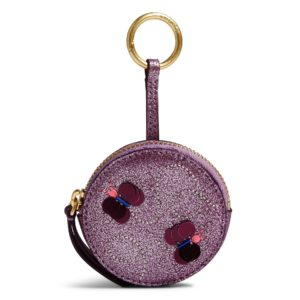 Vera Bradley Mallory Butterfly Bag Charm in Lilac ShimmerIds/Keychains