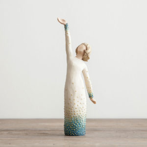 "Shine - Willow Tree Figurine Bless a friend or loved one with this elegantly designed Willow Tree figurine and encourage her to keep shining her light for Jesus! A lovely keepsake for years to come!Sentiment:You have a radiant inner lightProduct Details:Size: 8""HMaterial: resinDust with soft cloth or soft brushFigurine comes in Willow Tree gift boxProduct by DEMDACO - Willow Tree"