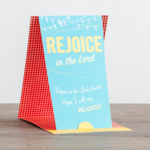 Birthday - Rejoice in the Lord - 3 Premium Cards Delight the hearts of special friends with these lovely Christian birthday cards