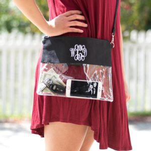 monogram clear bags for game day