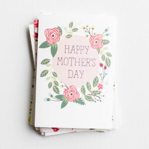 """Mother's Day Assortment - 24 Boxed Cards This assorted floral Mother's Day cards boxed set from DaySpring is the perfect way to share Mother's Day blessings and celebrate moms in all seasons of life.Product Details:24 cards and 24 envelopes3 each of 8 designsAssorted Scripture textFolded card size: 4 1/2"""" x 6 1/2""""Card 1Cover:A Prayer For You On Mother's DayInside:Praying God will bless you for all you give"""