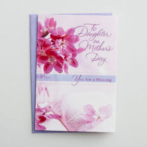 Mother's Day - Daughter - To My Daughter - 1 Premium Card Bless your daughter on Mother's Day with this lovely card and express to her your love and appreciation for the wonderful mom and daughter she is.Cover:To Daughter on Mother's DayYou Are a BlessingInside:Daughter