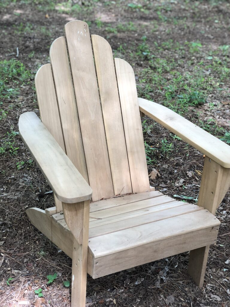Adirondack chair for backyard fire pit