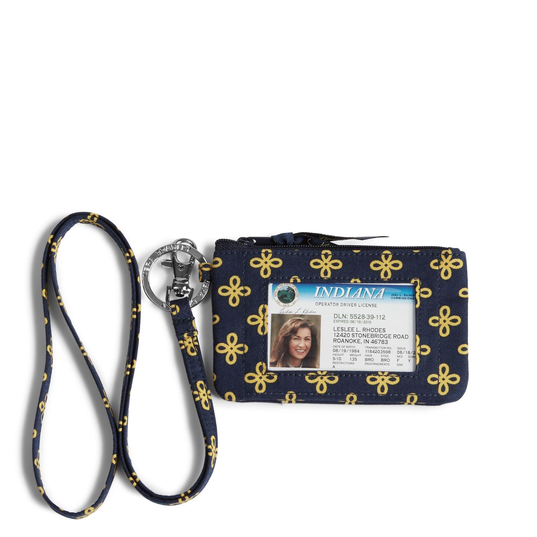 Vera Bradley Collegiate Zip ID Lanyard